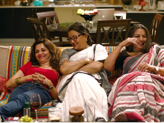 "Aparna Sen, center, directed and starred in the Indian Bollywood movie ""Sonata,"" along with Lillete Dubey, left, and Shabana Azmi. The indie film follows three middle-aged single women living life on their own terms."