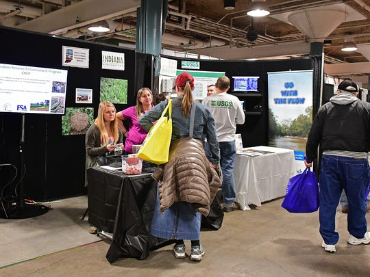 The Allen County (Indiana) Soil and Water Conservation District teamed with the Indiana Department of Agriculture to staff an information booth at the 2018 Fort Wayne Farm Show.