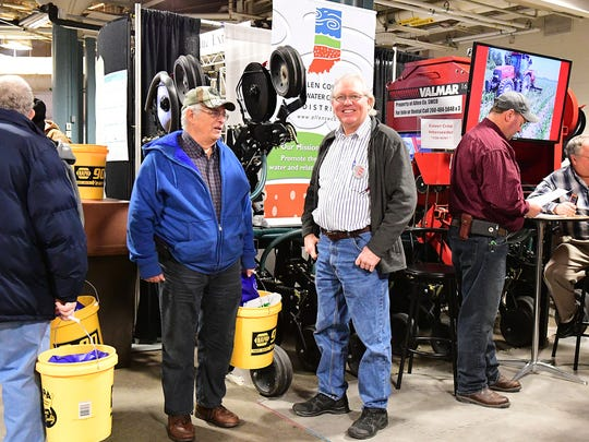 Fort Wayne Farm Show attendees came to see the new agricultural products available, to learn things at the educational seminars and to visit about past and upcoming farming years. A perk of the Farm Show was all of the take-home goodies such as the yellow buckets provided by NAPA Auto Parts.