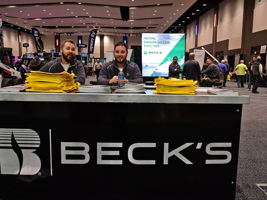 Becks Hybrid Seeds representatives greeted Farm Show attendees and handed out complimentary shopping bags.