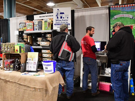 The Milan Feed & Grain Center, New Haven, IN, displayed not only livestock and pet feeds, but also toys, gifts and boots for sale at the Show.