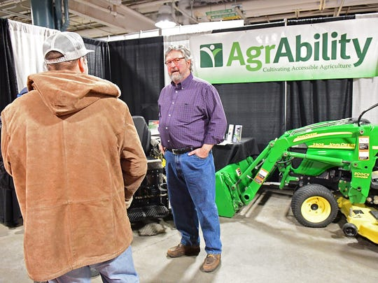 "The AgrAbility National Project mission statement is ""Cultivating Accessible Agriculture"". Their booth at the 2018 Fort Wayne Farm Show displayed handicapped-accessible farm, gardening and lawn care equipment and all-terrain wheel chairs among other things. For more information go to www.agrability.org/."