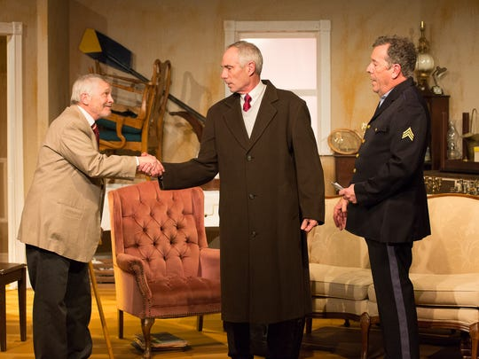 "Bob Barto, from left, Curtis King and Dan Tucker star in Chapel Street Players' ""The Price."""
