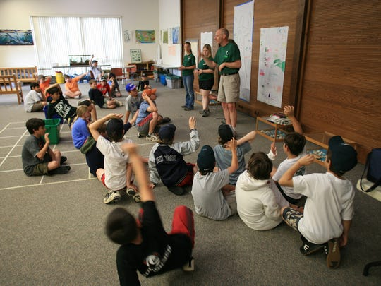 """""""Swamp Kids"""" learn about science and nature at the Environmental Education Center, 190 Lord Stirling Road, Basking Ridge."""