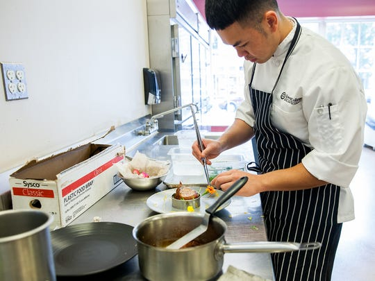 Huy Hoang is a culinary arts student at Rowan College at Burlington County's Culinary Arts Center in Mount Holly.