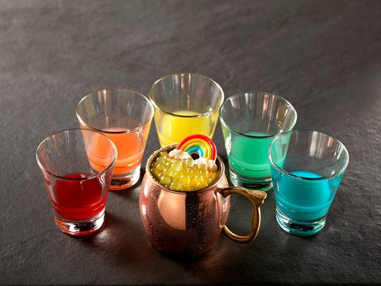 "TGI Fridays has a ""Lucky Line-Up"" of bar specials including the rainbow shot."