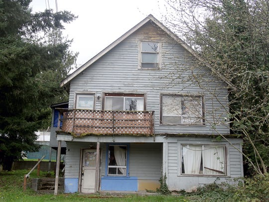 "This home on Lafayette Avenue is one of five being targeted by the city of Bremerton under the state's ""receivership"" law."