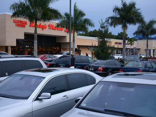 Lucky's Market in the Naples Town Center draws a crowd
