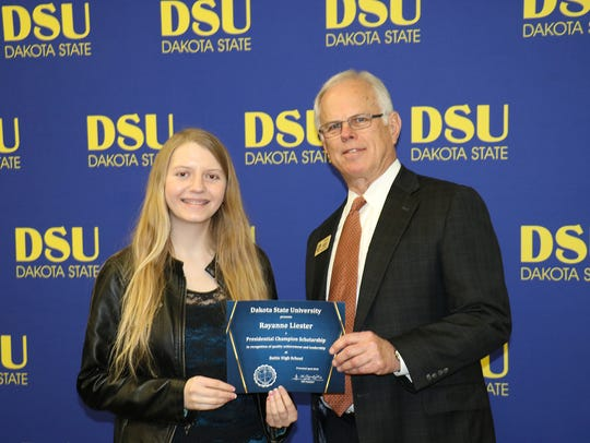 Rayanne Liester, a DSU Champion Scholar, is pictured
