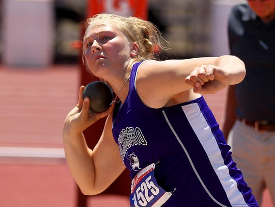 Jacksboro's Baylee Thompson won the gold medal in the