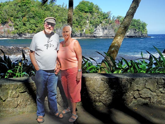 Phil and Lunel Haysmer lost their home to lava this month in the Leilani Estates neighborhood in Pahoa, Hawaii.