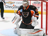 Goalie Alex Lyon's 94 saves are AHL history; is NHL job with Flyers next?