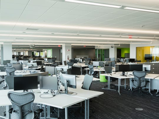Remodeled open work space at the Vehicle Engineering