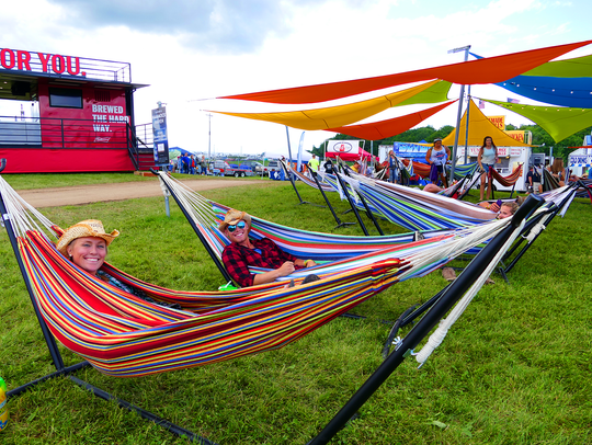 A hammock park is one of the distinct experiences offered