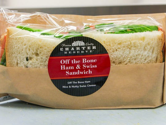 Ready-to-eat Off the Bone Ham and Swiss Sandwich offered at Brookshire's and Super 1 Foods