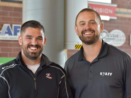 Lansing Lugnuts general manager Tyler Parsons and president