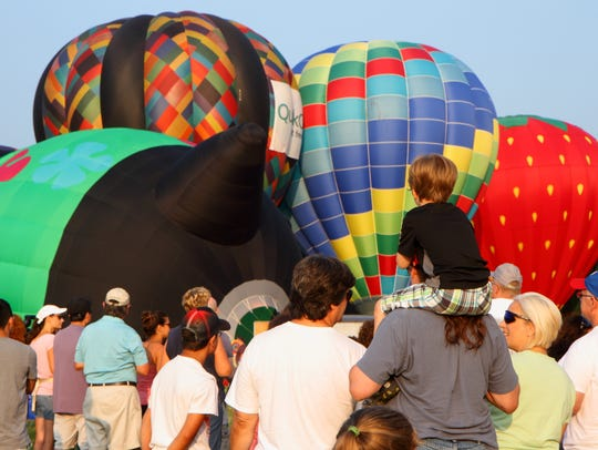The annual balloon festival at Solberg Airport in Readington