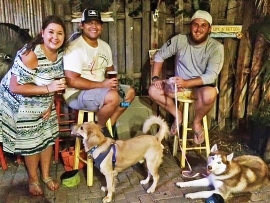 'Pup Crawlers' Amanda and Juan Piedrahita with Finley