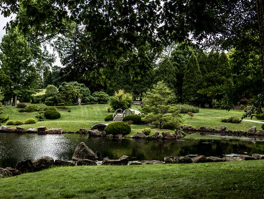 The Japanese Garden at Dawes Arboretum. The park, which