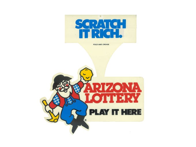 The inaugural Arizona Lottery logo, used from 1981-92.