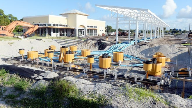 Construction continues on the site of a new Wawa gas station on the corner of U.S. 1 and 12th Street in Vero Beach. The station is projected to open in November.
