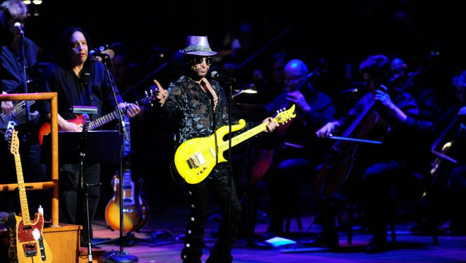 Marshall Charloff, one of the world's top Prince tribute artists, will perform the songs of the late artist alongside the El Paso Symphony Orchestra on Saturday at the Plaza Theatre.
