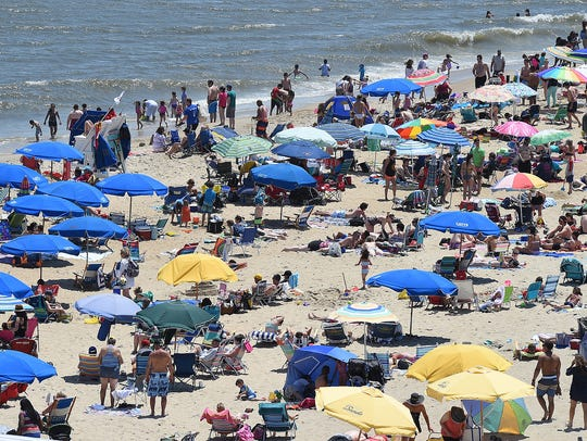 A typical Memorial Day weekend at Rehoboth Beach.