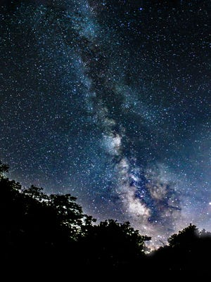 A local reader shot this picture of the Milky Way last summer from the Craggy Gardens picnic ground.