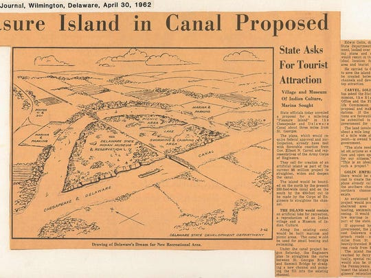 Pleasure Island was one of the proposals floated for the land that became Lums Pond State Park.