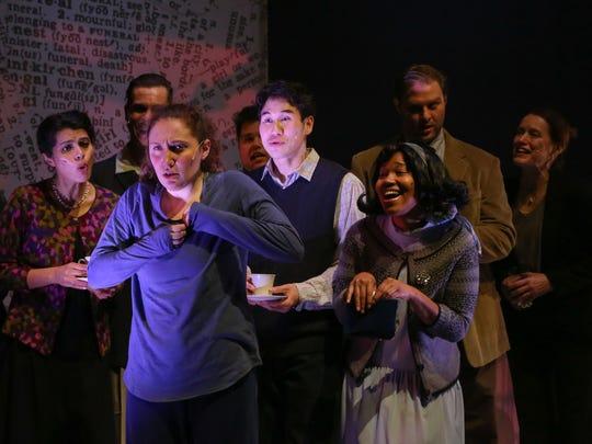 The ensemble helps punctuate Caitlin's (Rebecca Keeshin,