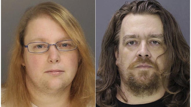 This combination of file photos provided on Sunday, Jan. 8, 2017, by the Bucks County District Attorney shows Sara Packer, left, and Jacob Sullivan. Sullivan pleaded guilty Tuesday, Feb. 19, 2019, to first-degree murder in the 2016 death of 14-year-old Grace Packer. Grace's adoptive mother, Sarah Packer, is expected to testify against Sullivan during the penalty phase of his trial. She has agreed to plead guilty and serve a life sentence.
