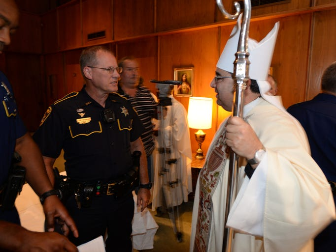 The 13th annual Blue Mass honoring area Law Enforcement Officers, Firefighters and Emergency Personnel was held at St. Mary of the Pines Catholic Church.