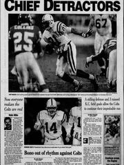 Indianapolis Star's Sports front after the Colts upset
