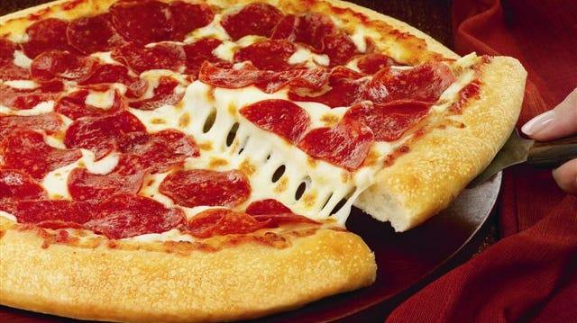 A Pizza Hut pizza.