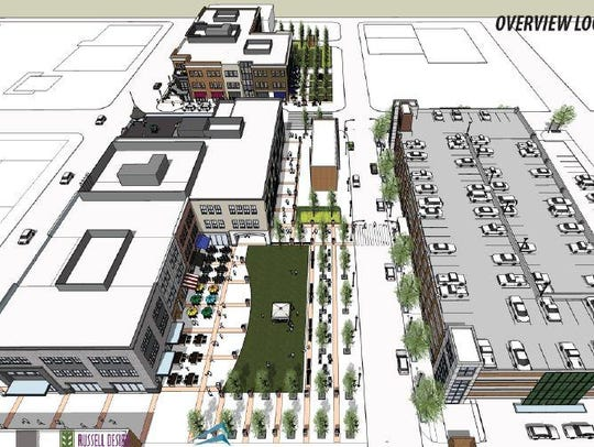 Ford Motor Co. plans to redevelop three blocks in downtown