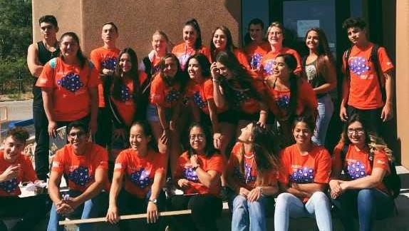 The Teen Academy for Health Sciences took time for a group photograph when they visited Advanced Veterinary Care in Silver City while they learned about health care career opportunities.