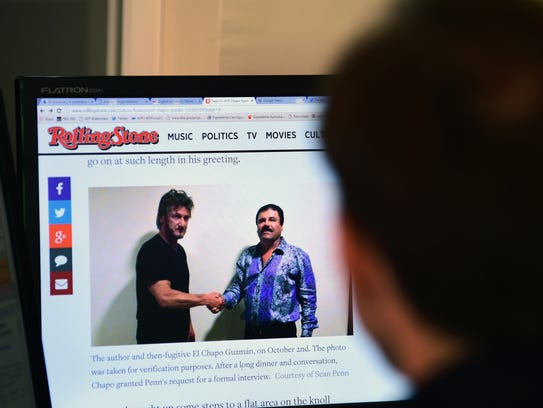 Sean Penn's article in 'Rolling Stone' about his meeting