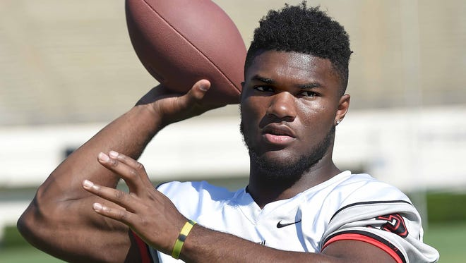 Clinton quarterback Cam Akers completed 14 of 22 passes for 272 yards and three touchdowns Friday.