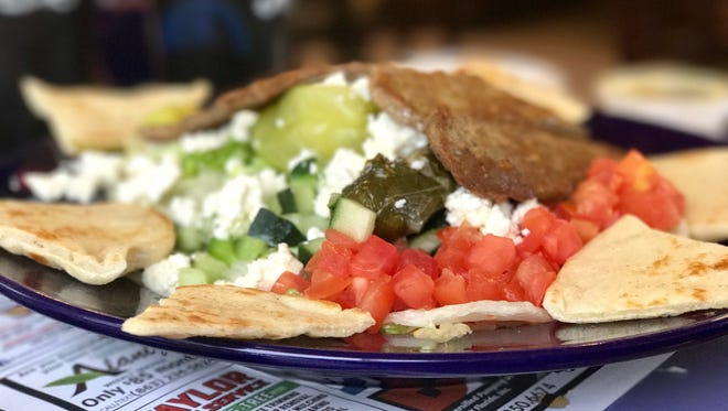 The Gyro Greek Platter from 41 Diner in San Carlos Park.