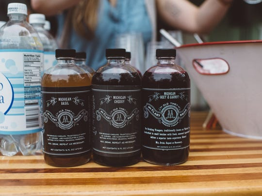 McClary Brothers drinks are one of several Michigan products at the Creative Many Michigan House at South by Southwest in Austin, Texas Monday.