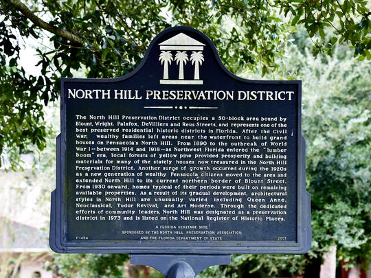 North Hill Preservation District sign.