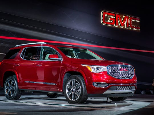 2017 GMC Acadia debuts at the Detroit auto show Jan. 12, 2016.