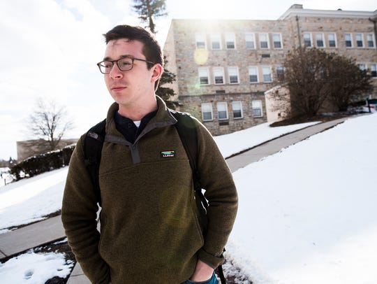 Ben Bristor, a senior at Mount St. Mary's University,