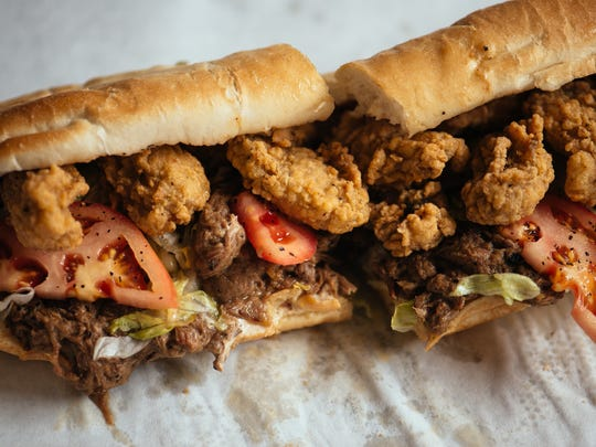 Pop's Poboys is one of many places to stop in and grab a bite while walking through downtown.