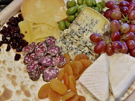 Wine parties are excellent for enjoying various cheeses, olives, dried fruits, fresh fruits and meats from SoGourmet.