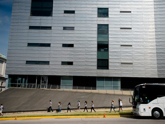 """The Southern Poverty Law Center building in downtown Montgomery. """"I ... knew that like many organizations, the work being done externally was most likely not happening internally with the same level of urgency and intensity,"""" interim SPLC president and CEO Karen Baynes-Dunning writes in an opinion piece."""