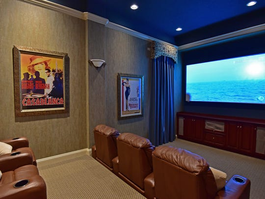 4412 Soundside Drive, the theater room.