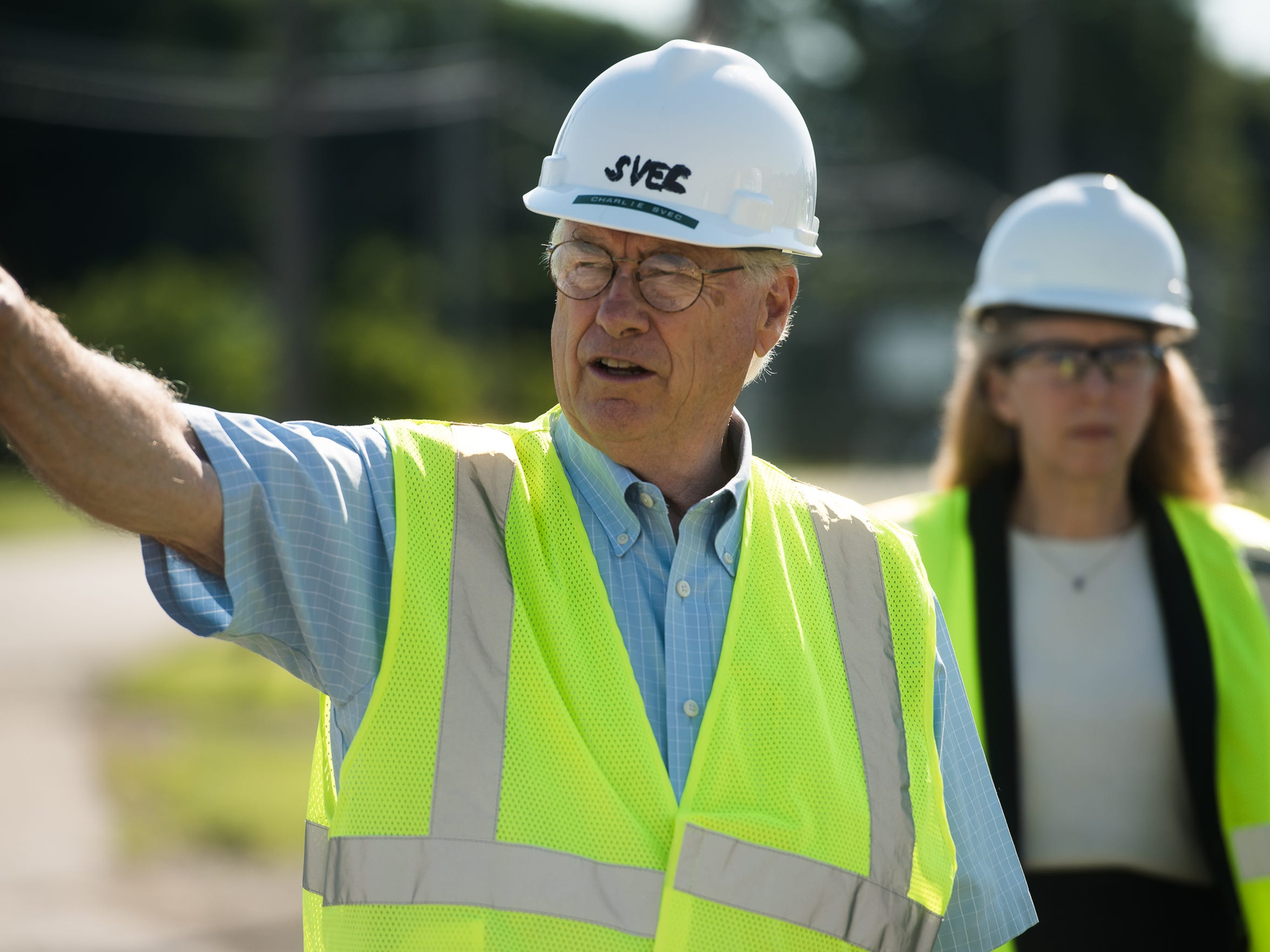 Miller Chemical and Fertilizer President Charles Svec explains new additions to the Miller Chemical Company plant on Radio Road in Conewago Township on Tuesday. The fire that destroyed a large section of the factory happened June 8, 2015.