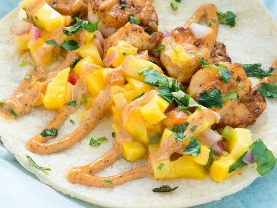 Bay Vista Taqueria; Caribbean shrimp taco