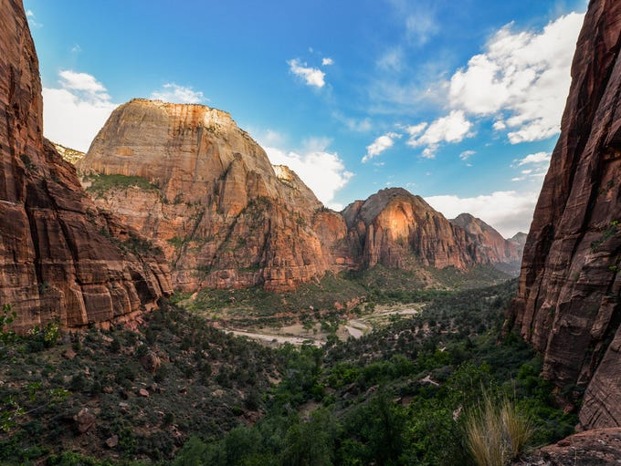 In Southern Utah, Zion National Park and its 229 square